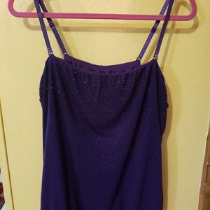 Lane Bryant Purple Tube Top with removeable straps